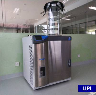 Freeze Dryer 6 Liter dengan Shell Freezer (tarif mahasiswa)